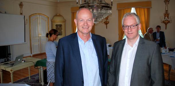 Foto: Daglig leder Just Erik Næss og Adm. dir. Arild Bjørn Andersen